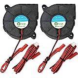 Furiga 24 V 5015 Ventilator, DC 50 x 50 x 15 mm, radiaalventilator, 1,2 m kabel voor 3D-printerventilator, koellichaam, 2 stu