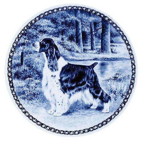 Lekven English Springer Spaniel Design Hund Teller 19,5cm/19,3cm Made in Dänemark Neu mit Zertifikat of Origin Teller # 7371 (Platte Springer Spaniel)