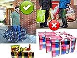 *** RéUTILISABLE *** Sac de shopping pliable [ SOLIDE ] Tote Bag cabas pour le shopping pour rangement & commissions [ PRATIQUE ] sac shopping pliable GRAND Sac à mains courses couleur aléatoire...