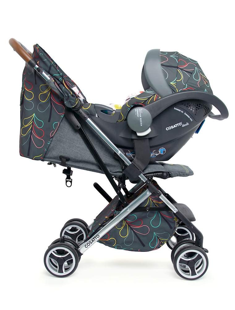 Cosatto Woosh XL Pushchair, Suitable from Birth to 25 kg, Nordik Cosatto Compact from-birth pushchair. carries up to 25kg child, so you can use it for longer. Hands full? it's lightweight with one-hand fold into compact bundle. easy to store. It can even carry dock 0+ car seat (sold sep) just pop onto the adaptors (sold sep). 3