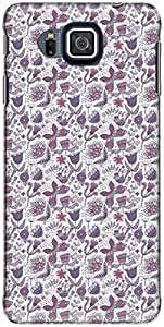 The Racoon Lean printed designer hard back mobile phone case cover for Samsung Galaxy Alpha. (Purple Flo)