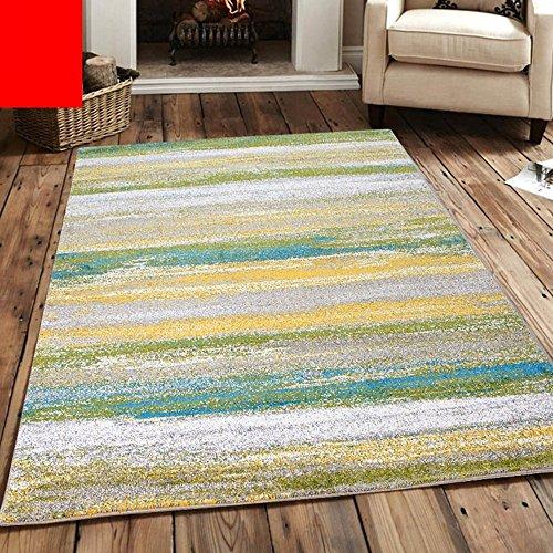 KYDJ Amerikanische Nordic Wohnzimmer Schlafzimmer Bett personalisierte Mode abstrakte Kunst Couchtisch einfach und modern Teppich (Farbe, Größe Optional) (Farbe: M)