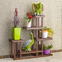 Sharpex Multi-Layer Wooden Plant Stand (Brown)