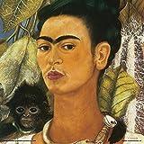 Frida Kahlo Self Portrait with a Monkey Decorative Fine Surrealist Art Poster Print 12x12