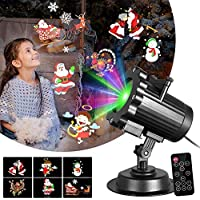 Lámpara de Proyección de Navidad, ENES Proyección de Vacaciones al Aire Libre a Prueba de
