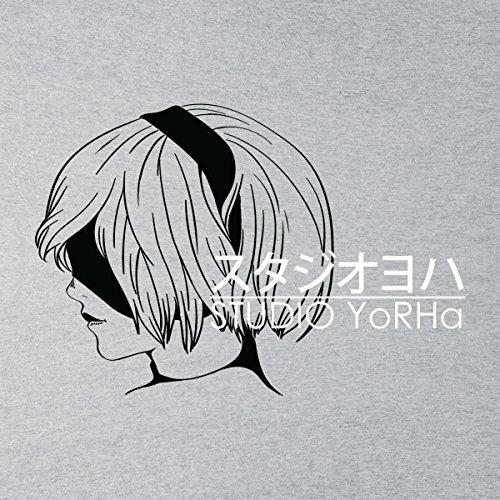 Studio Yorha Nier Ghibli Men's Vest Heather Grey