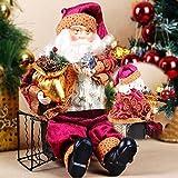 Regalo della decorazione Ornamento Bambola di Natale seduto Babbo casa natale