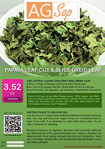 AG Sop 100% foglie Papaya (Paw Paw Twig) Dried Leaf