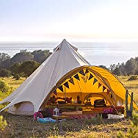 tenty.co.uk Boutique Camping Tents 5m Sandstone Star Bell Tent With Zipped In Ground Sheet