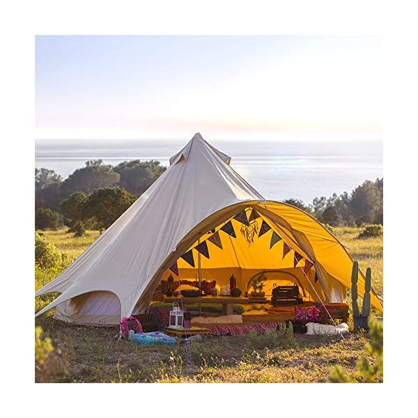Boutique Camping Tents 5m Sandstone Star Bell Tent With Zipped In Ground Sheet 1