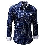 TIFIY Oktoberfest Herren Herbst Formal Polka Dot Slim Fit Langarm-Kleid Shirt Casual Top Oversize Pullover Bluse