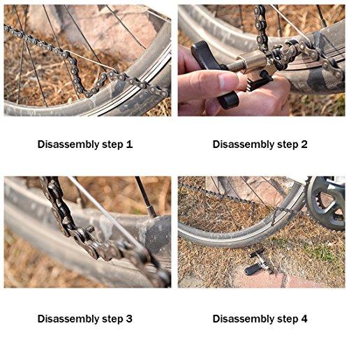 Fahrrad Ketten Werkzeug, Aodoor Werkzeug Kettennietdrücker, Kettennieter für Fahrrad Ketten Entferner Werkzeug, schwarz - 4