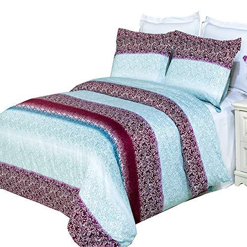 Luxus Gedruckt Mauve Kimberly Filterlinsen-Set (Bettbezug Set, 300Fadenzahl 100% ägyptische Baumwolle Faser Reactive Prints mit passenden kissenrollen, baumwolle, multi, Full/Queen -