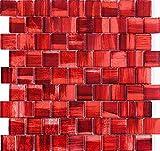 Mosaik Glasfliesen Badezimmer und Küche mv-drio-rouge