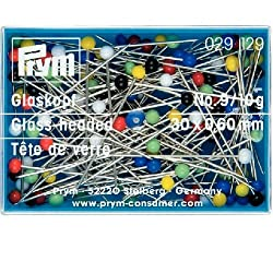 Prym Glass-Headed Pins, Metal, Multi-Colour, 5.7 x 4 x 1.5 cm
