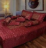 fashionadobe Satin Pink Gold printed Dou...