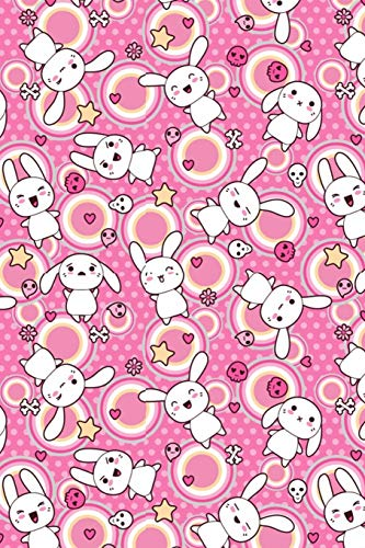 Journal: Kawaii bunny  | 150 Wide Ruled Pages  | 6 x 9 size | Writing notebook (Girls, Band 2)