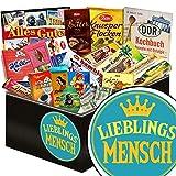 Lieblingsmensch ♥ DDR Schokolade Geschenkkorb ♥ Schokoladen Geschenkset L in edler schwarzer Geschenkbox ♥ Maulwurf, Viba, Zetti Bambina ♥
