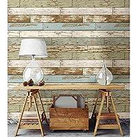 ورق حائط سهل اللصق بتصميم خشبي عتيق مطبوع عليه صورة منطقة اولد سالم من نيوولبيبر
