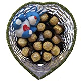 Gifts World Ferrero Rocher & Teddy Basket