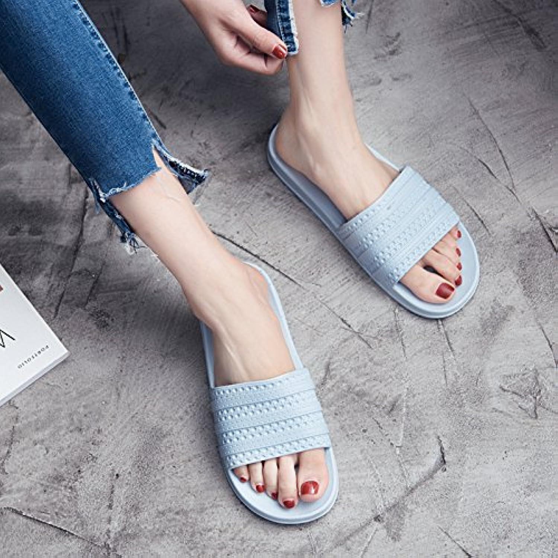 Fankou Zapatillas mujer verano cubierta blanda antideslizante zapatillas de baño baños casa piso gruesos macho...