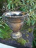 Traumschöner Übertopf Amphore Pflanztopf Vase Eisen Antik-Look gold