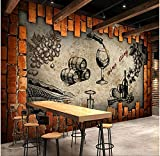Rureng Retro Wine Storehouse Cellar Manor Wine House Mural Custom Made Large and Medium Mural Silk Wallpaper Mural-150X120Cm