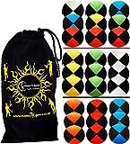 Flames N Games ® Thud Jonglierbälle 3er Set - Profi Beanbag Bälle aus Velours + Reisetasche! Komplett-Set Ideal Für Anfänger und Auch Für Profis! (Blau)