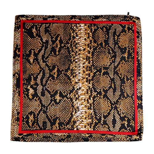 Kofun Stirnband Bandana, 70X70Cm Frauen Böhmisches Quadrat Bandana Ethnische Schlangenhaut Tier Digitaldruck Stirnband Vintage Krawatte Dekorative Headwrap 2# -