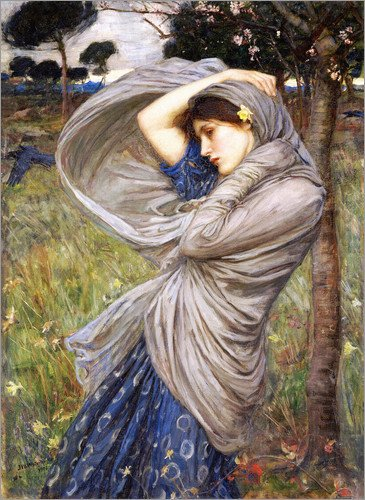 stampa-su-tela-80-x-110-cm-boreas-di-john-william-waterhouse-poster-pronti-foto-su-telaio-foto-su-ve