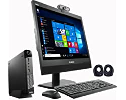 (Renewed) Lenovo 19 inch (48.26 cm) All In One Desktop set (Core I5 4th Gen,4 GB,500GB Tiny CPU, 19 inches Monitor, Keyboard,