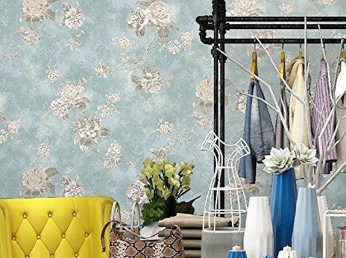 Vlies Tapete Wandtapete American Retro Garden, Non-Woven Wallpaper, Nostalgia, Floral Paper, Small Broken Flowers, European Style Bedroom, Women\'S Clothing Shop Wallpaper, 0.53 * 9.5M