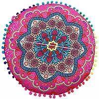Cojines indio Mandala piso almohadas redondas de almohadas de cojín bohemio cubierta funda By LMMVP (