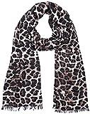 Guess Damen Schal Devyn, Mehrfarbig (Leopard), One Size