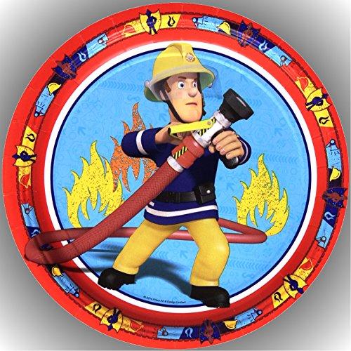 Fondant Tortenaufleger Tortenbild Geburtstag Feuerwehrmann Sam T8