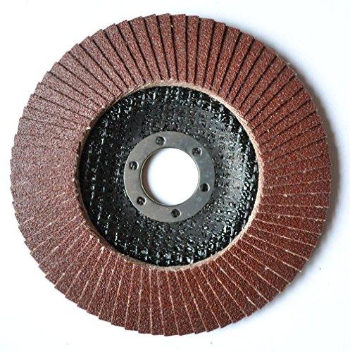 2 St. Set Falon Tech Fächerscheiben ø 115 mm Braun Schleifscheiben Schleifmop Flap Disk für Winkelschleifer Schleifteller Schleifscheibe Korn P 100