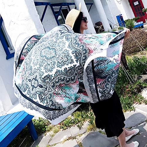 SCARWWH Strand Badetuch Mode Im Freien Schal Gaze Handtuch Super Großen Sonnenschirm Schal