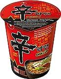Nong Shim Instantnudeln Shin Ramyun/Koreanische Rindfleisch Cup Suppe scharf - schnelle Zubereitung/6er Vorteilspack à 68g