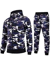 AIRAVATA Homme Ensemble Pantalon de Sport Sweatshirt à Capuche Jogging  Survêtement e6a844cbd4e