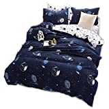 CHAOSE Funda nórdica Ropa de Cama Star Wars Space Moon Series Three Sets(220×240- Cama de...