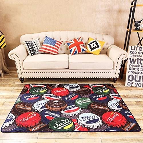 XYL Teppich Tee Tischteppiche Schlafzimmer Teppiche Platz Europäischen Stil Teppiche Jazz Drum Mat Wohnzimmer Sofa Teppich (Color : Multi, Size : Colored)