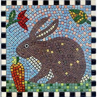 Mosaic Construction Kit, 20 x 20 cm, Rabbit with Carrot
