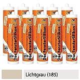 10er SET PTW Silikon neutralvernetzend und abriebfest - LICHTGRAU (185) / Dichtstoff/Silicon / Fugensilikon