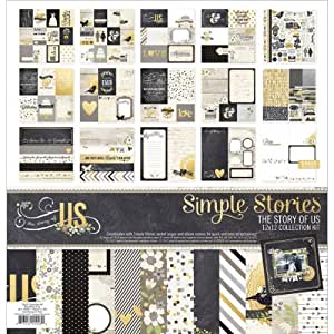 Simple Stories Collection Kit 12''X12''-The Story Of Us