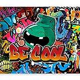 murando Papier peint intissé Graffiti 350x256 cm Décoration Murale XXL Poster Tableaux Muraux Tapisserie Photo Trompe l'oeil Ornament coloré m-A-0741-a-a