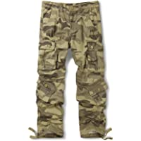 OCHENTA Men's Cargo Pant Casual Military Army Camo Combat Trousers,Wild Cargo Pants with 8 Pockets (Size 29-44)