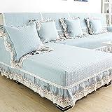 QINQIN Rurale Divano copertina Europa panno Slipcover Telo traspirante divano di sofà di cuoio semplice cuscino 1 pezzo -A 98x210cm(39x83inch)