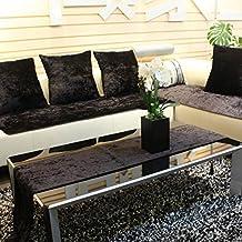 sofá de cuero cubierta de alfombra de baño/ amortiguador de la tela moderna minimalista/Resbalón cuatro estaciones corto felpa sofá toalla-K 90x240cm(35x94inch)
