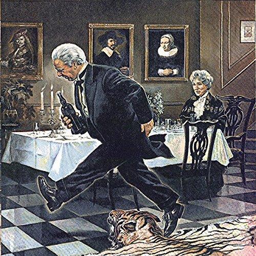 (IHR - Servietten - Dinner for One - Der 90. Geburtstag / Miss Sophie / James)