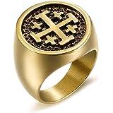 BOBIJOO Jewelry Bague Chevali/ère Croix Saint Jacques de Compostelle Ordre de Santiago Templier
